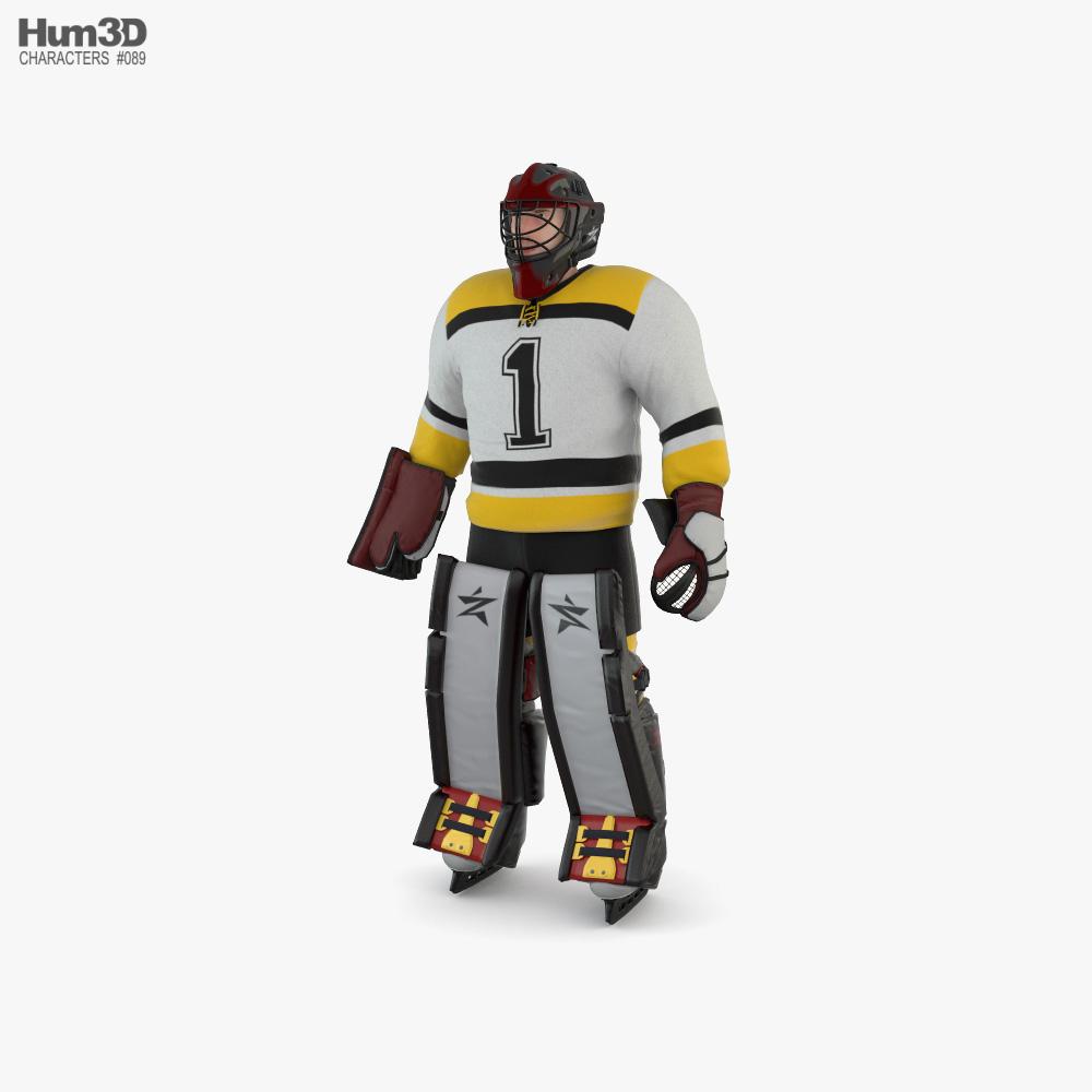 Hockey Goalkeeper 3D model