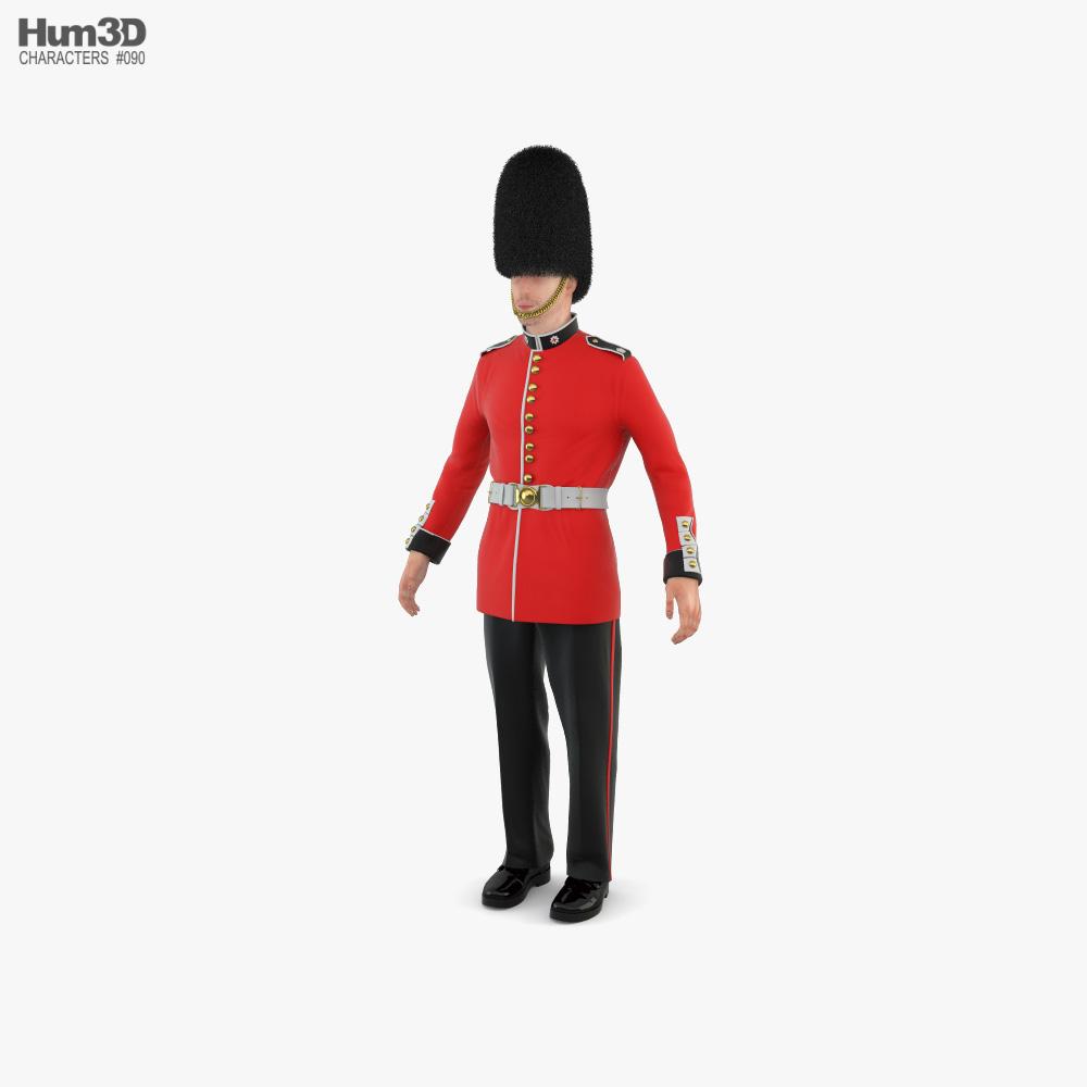 British Royal Guard 3D model
