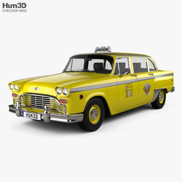 3D model of Checker Marathon (A12) Taxi 1978