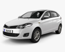 3D model of Chery A13 (Fulwin 2) hatchback 2012