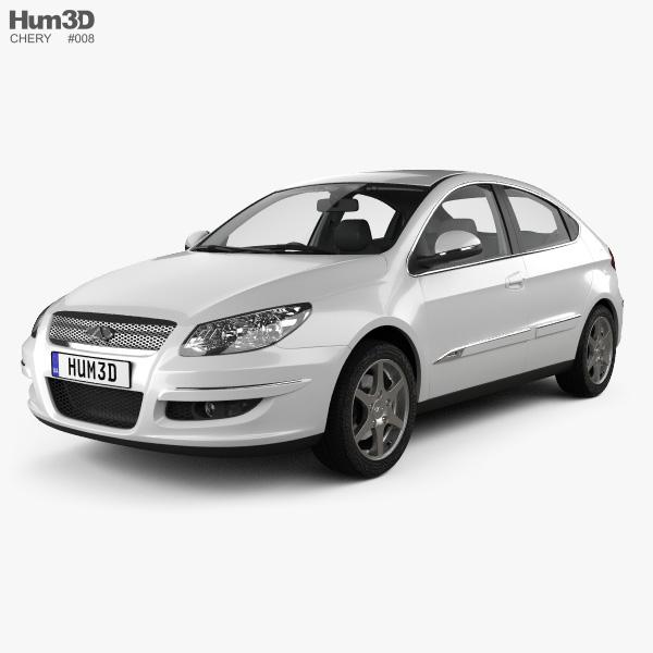 Chery A3 (J3) Hatchback 5-door with HQ interior 2008 3D model