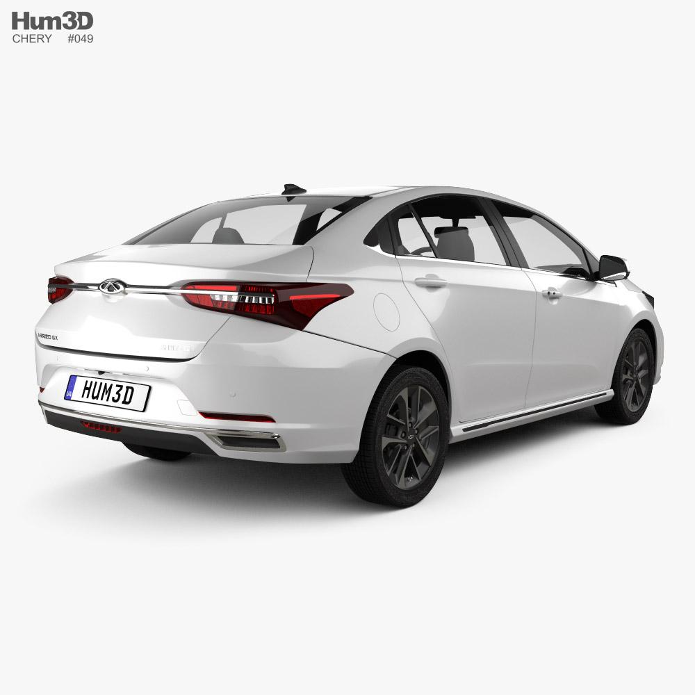 Chery Arrizo GX 2021 3d model back view