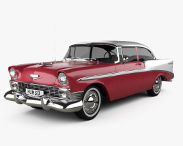 3D model of Chevrolet Bel Air hardtop 1956