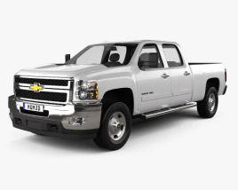 3D model of Chevrolet Silverado Crew Cab Standard Bed 2011