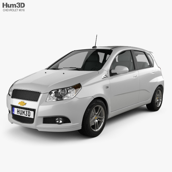 3D model of Chevrolet Aveo 5-door 2009