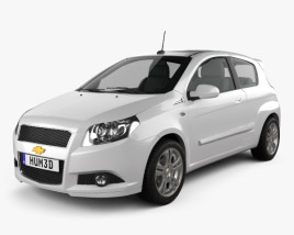 3D model of Chevrolet Aveo 3door 2009