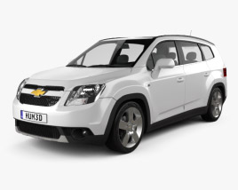 3D model of Chevrolet Orlando 2011