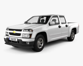 3D model of Chevrolet Colorado Crew Cab 2012 2012