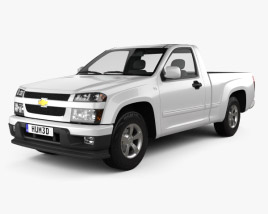 3D model of Chevrolet Colorado Regular Cab 2012