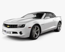 3D model of Chevrolet Camaro 2LT RS Convertible 2011