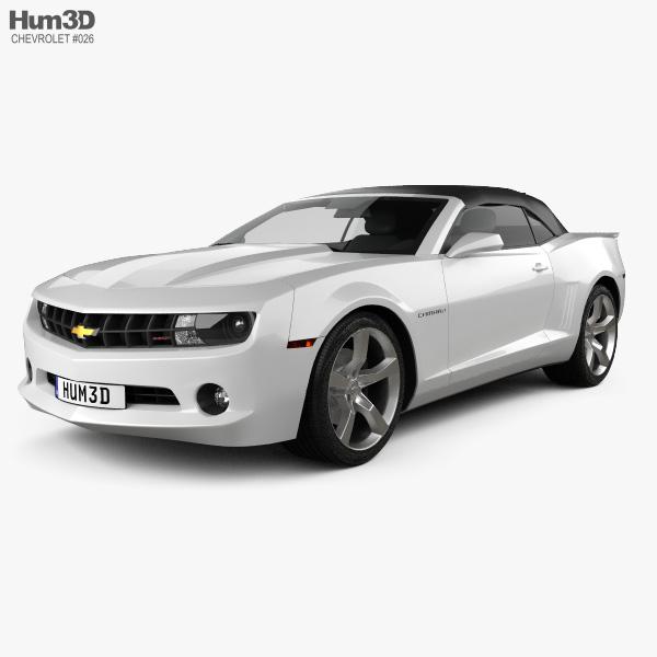 Chevrolet Camaro 2LT RS convertible 2011 3D model