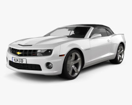 3D model of Chevrolet Camaro 2SS RS Convertible 2011