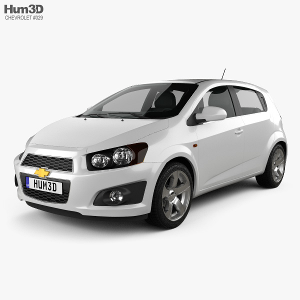 3D model of Chevrolet Aveo 5 door 2011