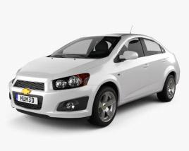 3D model of Chevrolet Aveo sedan 2011