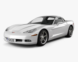 3D model of Chevrolet Corvette (C6) 2011