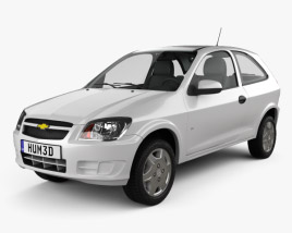 3D model of Chevrolet Celta 3-door hatchback 2011