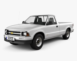 Chevrolet S10 Single Cab Long Bed 1994 3D model