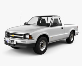 3D model of Chevrolet S10 Single Cab Standart Bed 1994