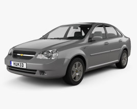 3D model of Chevrolet Lacetti Sedan 2011
