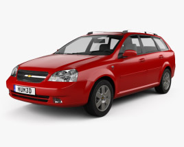 3D model of Chevrolet Lacetti Wagon 2011