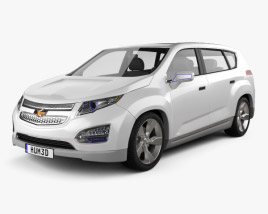 3D model of Chevrolet Volt MPV5 2012