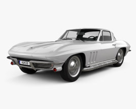 3D model of Chevrolet Corvette Sting Ray (C2) 1965