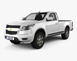 3D model of Chevrolet Colorado S-10 Regular Cab 2013