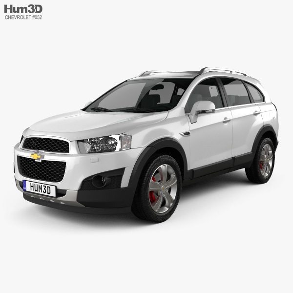 3D model of Chevrolet Captiva 2012