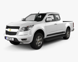 3D model of Chevrolet Colorado S-10 Extended Cab 2013