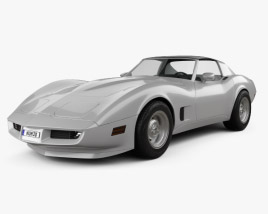 3D model of Chevrolet Corvette Stingray (C3) Coupe 1974