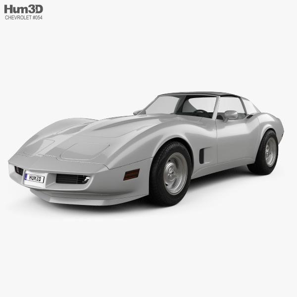 Chevrolet Corvette Stingray (C3) Coupe 1974 3D model