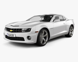 3D model of Chevrolet Camaro 2SS RS coupe 2011