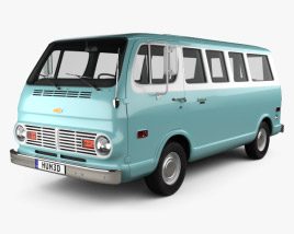 3D model of Chevrolet Sport Van 1968