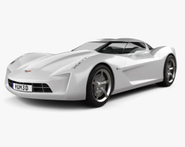 3D model of Chevrolet Stingray concept 2009