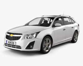 3D model of Chevrolet Cruze Wagon 2012