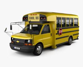 3D model of Thomas Minotour School Bus 2012