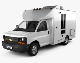 3D model of Chevrolet Express Mobile Vending 2003