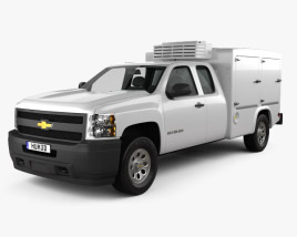 3D model of Chevrolet Silverado Hotshot II XL 2011
