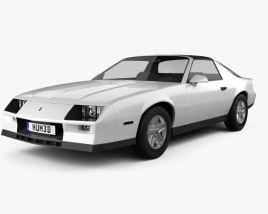 3D model of Chevrolet Camaro Z28 coupe 1982