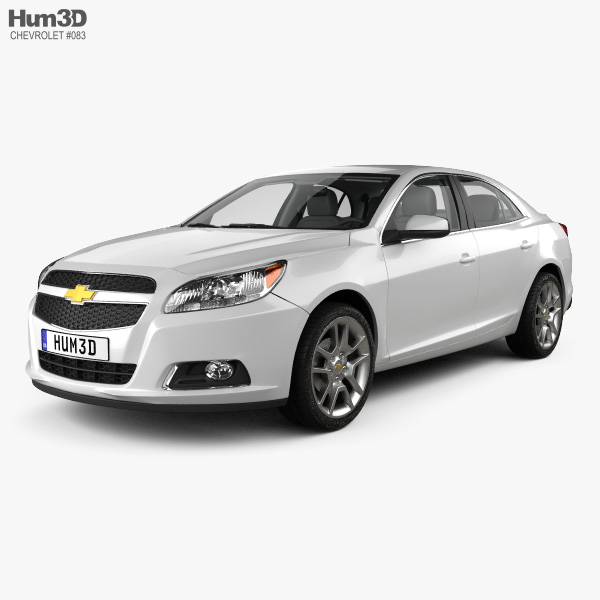 Chevrolet Malibu with HQ interior 2013 3D model