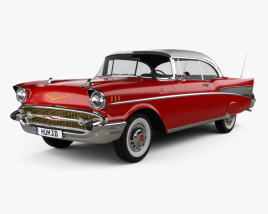 3D model of Chevrolet Bel Air Sport Coupe 1957