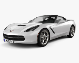 3D model of Chevrolet Corvette Stingray (C7) Coupe 2014