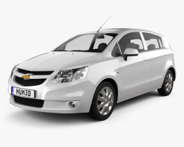 3D model of Chevrolet Sail hatchback 2012