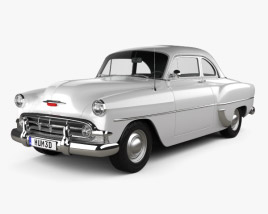 3D model of Chevrolet 210 Club Coupe 1953
