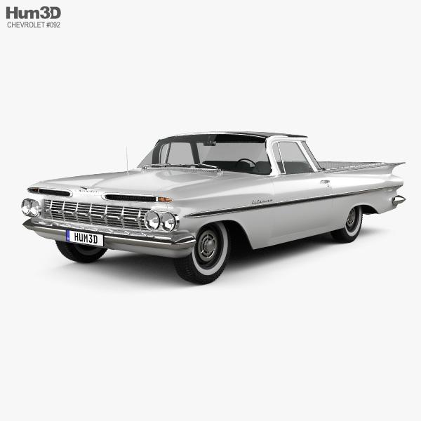 Chevrolet El Camino 1959 3D model