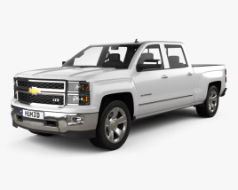 3D model of Chevrolet Silverado Crew Cab LTZ 2014