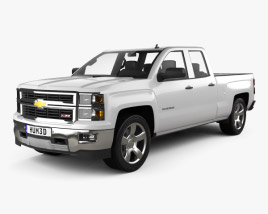 3D model of Chevrolet Silverado Extended Cab Z71 2014