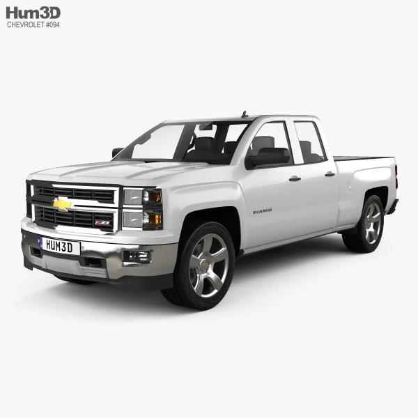 Chevrolet Silverado Extended Cab Z71 2014 3D model