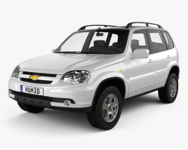 3D model of Chevrolet Niva 2012