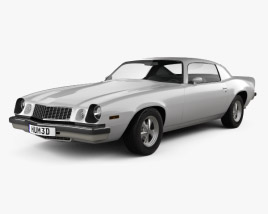 3D model of Chevrolet Camaro 1975